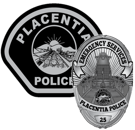 Placentia Police Department Emergency Services Patch and Badge